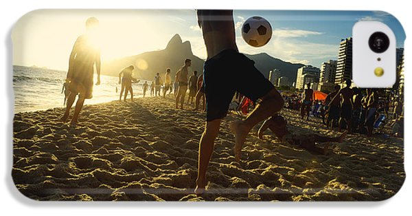 South America iPhone 5c Case - Carioca Brazilians Playing Altinho by Lazyllama