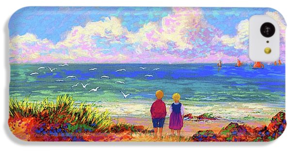 Figurative iPhone 5c Case - Children Of The Sea by Jane Small