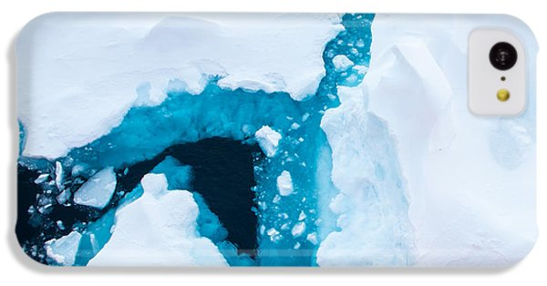 Navigation iPhone 5c Case - Close Up Photo Of Beautiful Blue Ice In by Mikhail Varentsov