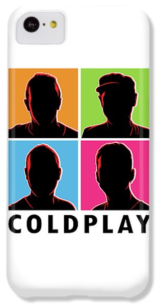 Coldplay iPhone 5c Case - Coldplay Silhouette by Laksana Ardie