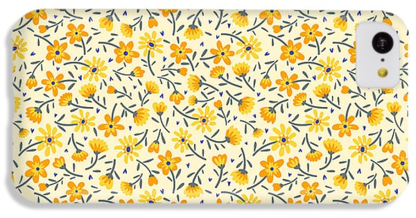 Floral iPhone 5c Case - Cute Pattern In Small Flower. Small by Ann.and.pen