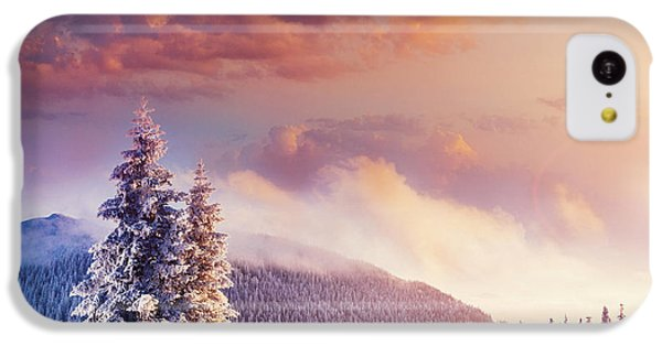 Beautiful Sunrise iPhone 5c Case - Fabulous Winter Landscape In The by Standret