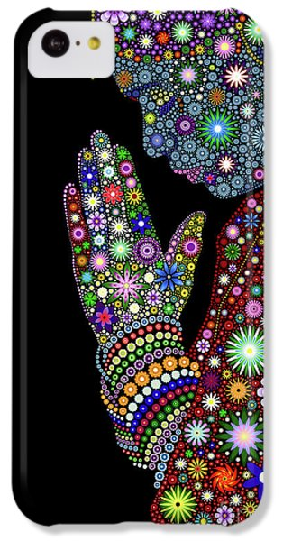 Floral iPhone 5c Case - Flower Prayer Girl by Tim Gainey