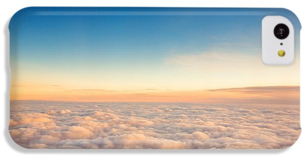 Beautiful Sunrise iPhone 5c Case - Flying Above The Clouds. View From The by Valentin Valkov