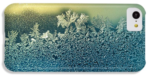 Beautiful Sunrise iPhone 5c Case - Frosty Natural Pattern And Sun On by Artdi101