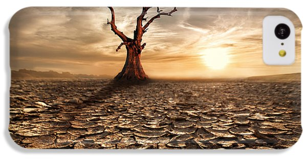 Beautiful Sunrise iPhone 5c Case - Global Warming Concept. Lonely Dead by Perfect Lazybones