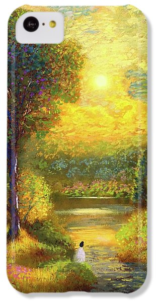 Figurative iPhone 5c Case - Golden Peace by Jane Small