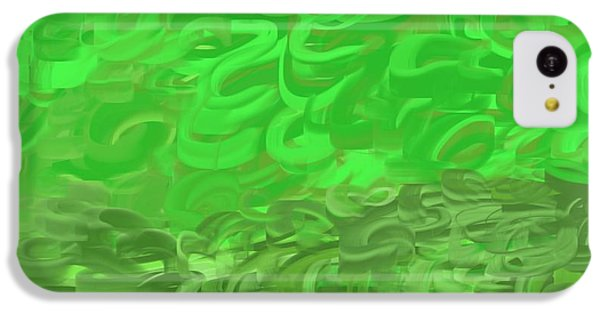 The Art Of Gandy iPhone 5c Case - Green Expansions by Joan Ellen Gandy of The Art Of Gandy