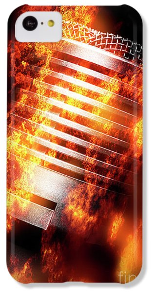 Sound iPhone 5c Case - Hot Mic by Jorgo Photography - Wall Art Gallery
