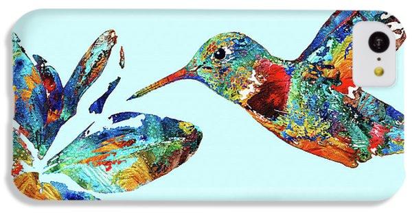 Humming Bird iPhone 5c Case - Hummingbird Blue - Sharon Cummings by Sharon Cummings