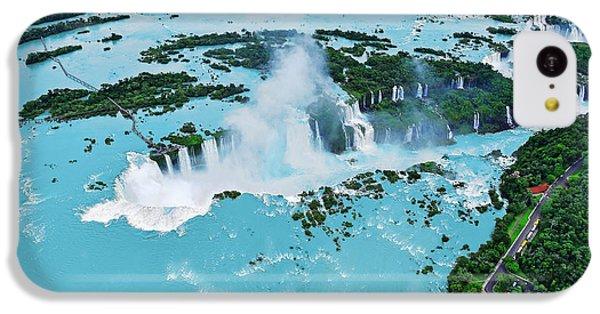 South America iPhone 5c Case - Iguazu Waterfalls From Helicopter by Elena Odareeva
