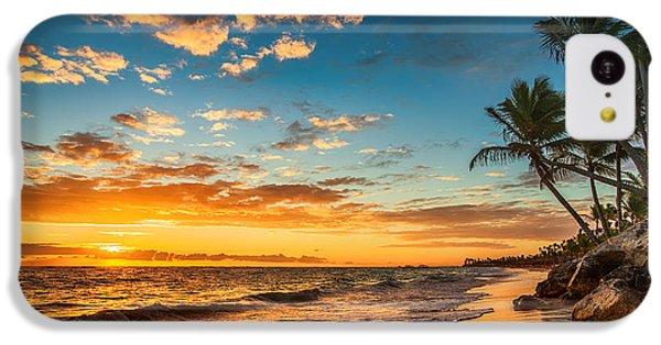 Beautiful Sunrise iPhone 5c Case - Landscape Of Paradise Tropical Island by Valentin Valkov