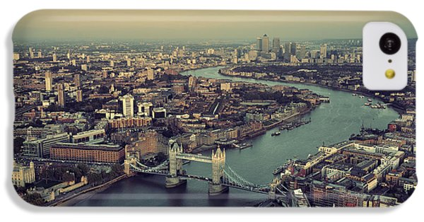 Beautiful Sunrise iPhone 5c Case - London Rooftop View Panorama At Sunset by Songquan Deng