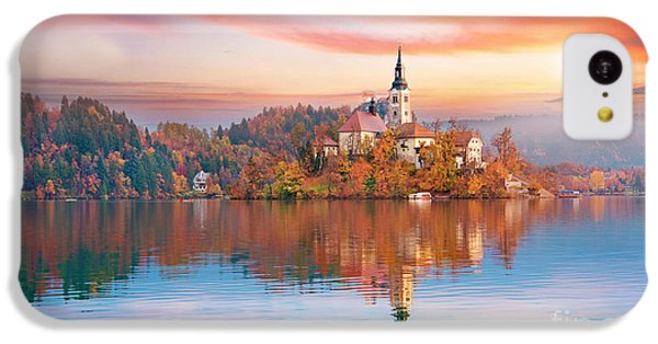 Beautiful Sunrise iPhone 5c Case - Magical Autumn Landscape With The by Andrij Vatsyk