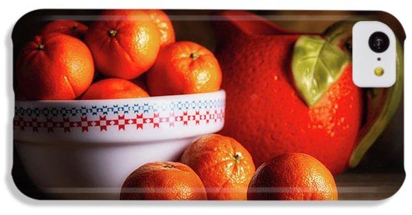 Fruit Bowl iPhone 5c Case - Mandarin Oranges And Orange Shaped Pitcher by Tom Mc Nemar