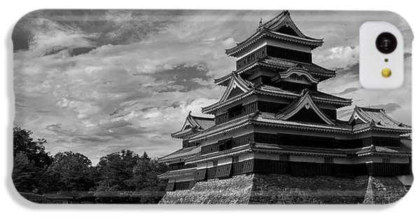 Castle iPhone 5c Case - Matsumoto Castle Japan Black And White by Ivan Krpan