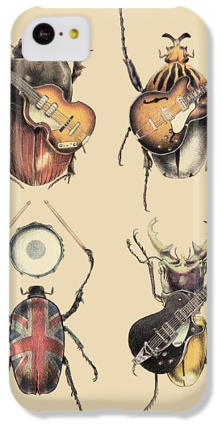 The iPhone 5c Case - Meet The Beetles by Eric Fan