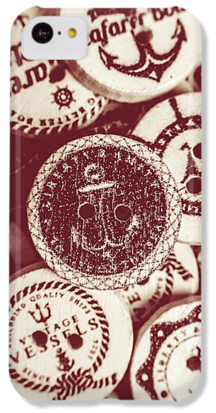 Navigation iPhone 5c Case - Mooring In Maroon  by Jorgo Photography - Wall Art Gallery