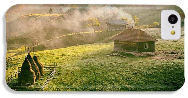 Beautiful Sunrise iPhone 5c Case - Mountain Landscape In Summer Morning by Pazargic Liviu
