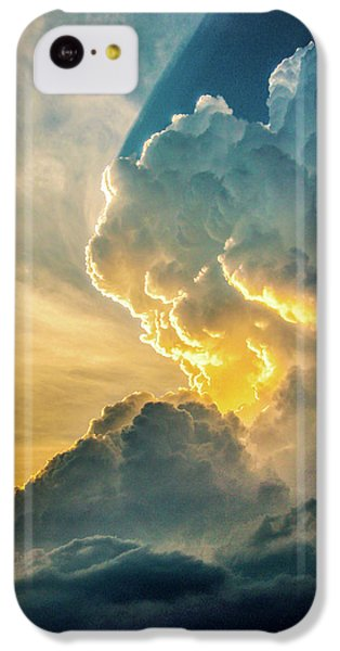 Nebraskasc iPhone 5c Case - Nebraska Sunset Thunderheads 075 by NebraskaSC