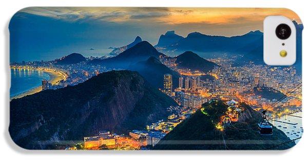 South America iPhone 5c Case - Night View Of Copacabana Beach, Urca by F11photo