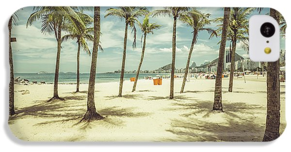 South America iPhone 5c Case - Palms With Shadows On Copacabana Beach by Marchello74