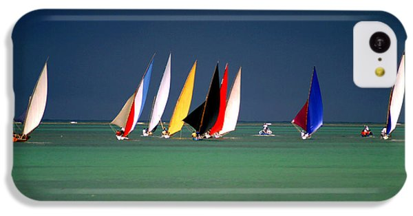 Navigation iPhone 5c Case - Pirogues On The Horizon In Front Of by Paul Banton
