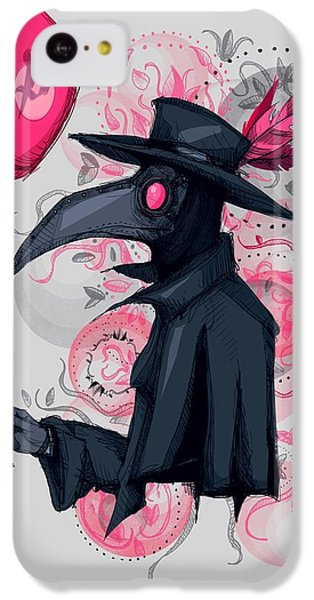 Doctor iPhone 5c Case - Plague Doctor Balloon by Ludwig Van Bacon