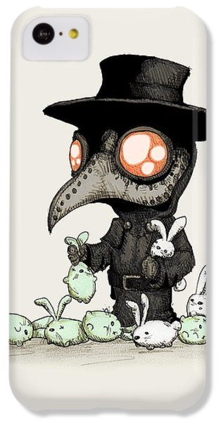 Doctor iPhone 5c Case - Plague Doctor Experiments  by Ludwig Van Bacon