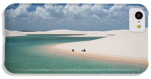 South America iPhone 5c Case - Rainwater Lagoon And Sand Dunes In by Vitormarigo