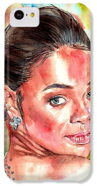 Coldplay iPhone 5c Case - Rihanna Portrait by Suzann Sines
