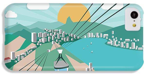 South America iPhone 5c Case - Rio De Janeiro - Vector Illustration by Petrovic Igor