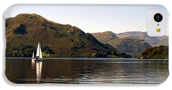 Navigation iPhone 5c Case - Sailboat On Ullswater In The Lake by Paul Banton