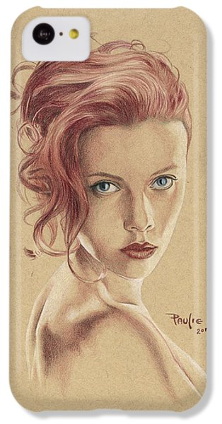 Scarlett Johansson iPhone 5c Case - Scarlett by Paul Petro