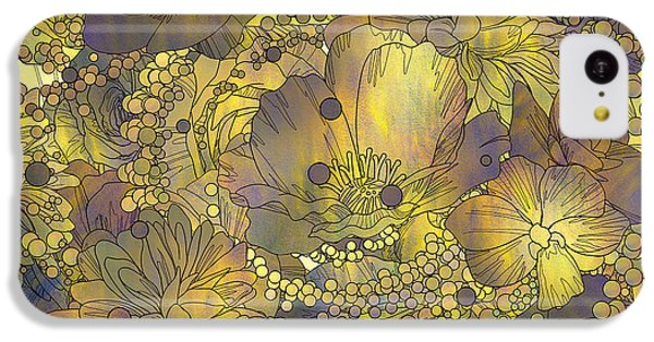 Floral iPhone 5c Case - Seamless Pattern Of Colorful Flowers by Tithi Luadthong