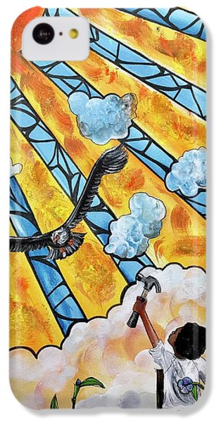 iPhone 5c Case - Shattered Skies by Artist RiA