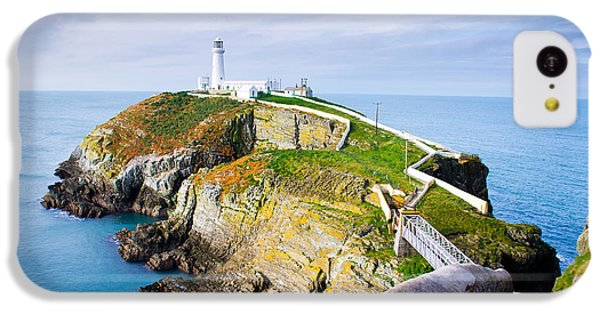Navigation iPhone 5c Case - South Stack Lighthouse In Anglesey by Juliuskielaitis