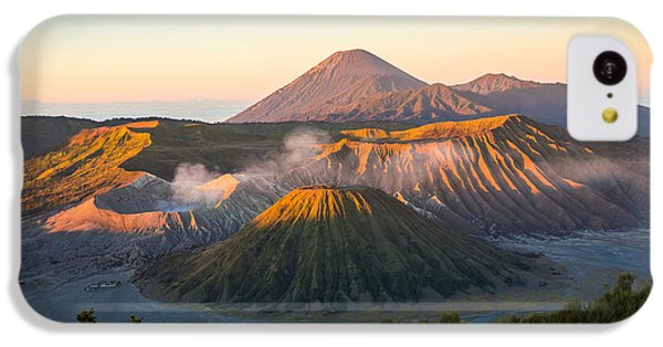 Beautiful Sunrise iPhone 5c Case - Sunrise At Mount Bromo Volcano, The by Twstock