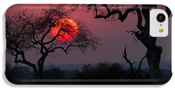 Beautiful Sunrise iPhone 5c Case - Sunrise In The African Savanna Kruger by Francesco De Marco