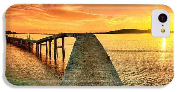 Beautiful Sunrise iPhone 5c Case - Sunrise Over The Sea. Pier On The by Khoroshunova Olga
