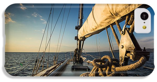 Navigation iPhone 5c Case - Sunset At Sea On Aboard The Yacht by Zhukov Oleg