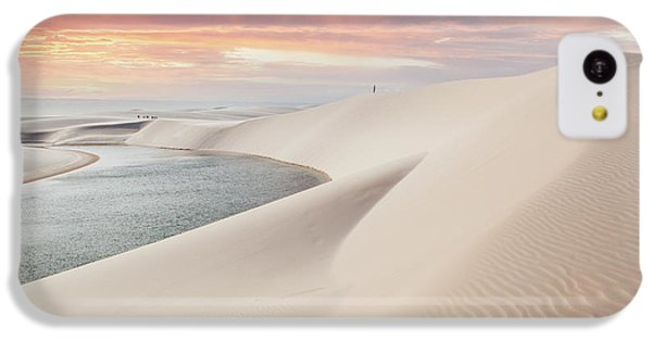 South America iPhone 5c Case - Sunset Over The Sand Dunes And Lagoons by Thanosquest