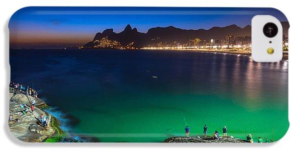 South America iPhone 5c Case - Sunset View Of Ipanema In Rio De by Catarina Belova