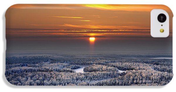 Beautiful Sunrise iPhone 5c Case - The Aerial View Of Snow-covered Winter by Vladimir Melnikov