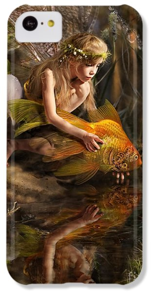 Fairy iPhone 5c Case - The Girl Releases A Gold Fish by Liliya Kulianionak