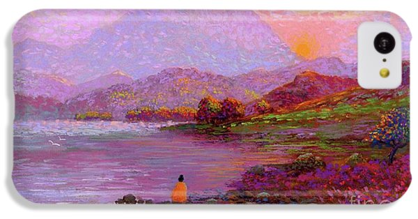 Figurative iPhone 5c Case - Tranquil Mind by Jane Small