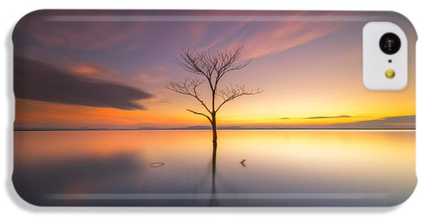Beautiful Sunrise iPhone 5c Case - Trees Submerged In The Flooded The Time by Worawit j
