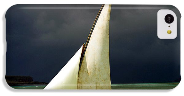 Navigation iPhone 5c Case - White Sailed Pirogue On The Ocean by Paul Banton
