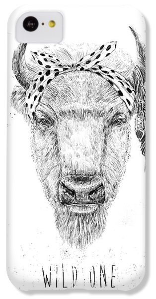 Bull iPhone 5c Case - Wild One  by Balazs Solti