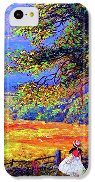 Figurative iPhone 5c Case - Flower Fields by Jane Small
